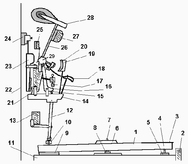Diagram Upright Action